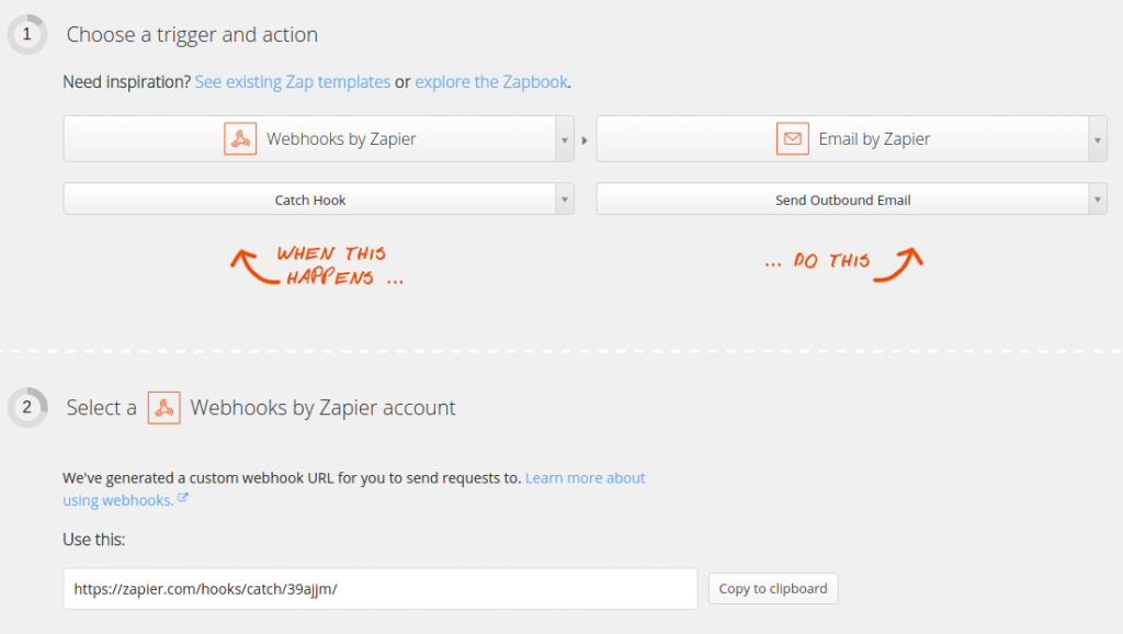 Create New Zap Zapier
